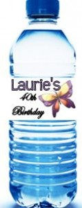 Women's Birthday Water Bottle Labels