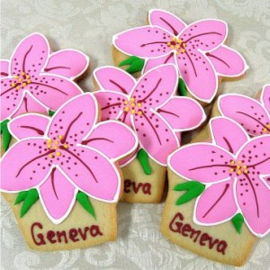 Personalized Lily Cookie Favors